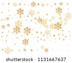 crystal snowflake and circle... | Shutterstock .eps vector #1131667637