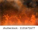 abstract fantasy orange fire... | Shutterstock . vector #1131672677