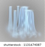 waterfall  isolated on... | Shutterstock .eps vector #1131674087