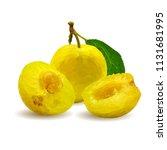 fresh  nutritious  tasty yellow ... | Shutterstock .eps vector #1131681995