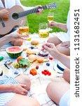 summer picnic basket on the...   Shutterstock . vector #1131682451