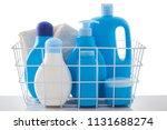 basket of baby cosmetics on... | Shutterstock . vector #1131688274
