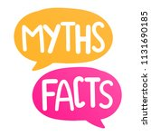 myths facts. vector lettering...   Shutterstock .eps vector #1131690185