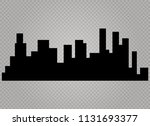 the silhouette of the city in a ... | Shutterstock .eps vector #1131693377