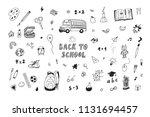 back to school doodle vector... | Shutterstock .eps vector #1131694457