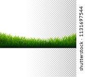 green grass frame isolated... | Shutterstock .eps vector #1131697544