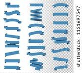 blue ribbon set inisolated...   Shutterstock .eps vector #1131697547