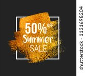 50  off summer sale text on... | Shutterstock .eps vector #1131698204