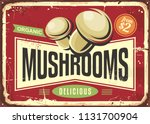 vintage tin sign with fresh... | Shutterstock .eps vector #1131700904