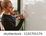 close up of female student... | Shutterstock . vector #1131701174
