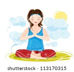 illustration of a beautiful... | Shutterstock .eps vector #113170315
