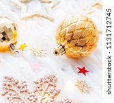 christmas and new year holiday... | Shutterstock . vector #1131712745