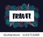 colourful summer banner with... | Shutterstock .eps vector #1131713285
