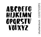 hand written uppercase alphabet.... | Shutterstock .eps vector #1131713291