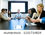 picture of businesspeople... | Shutterstock . vector #1131714824
