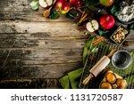 autumn cooking background ... | Shutterstock . vector #1131720587