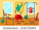 sport fitness gym indoor... | Shutterstock .eps vector #1131723404