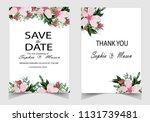 wedding vector floral invite...   Shutterstock .eps vector #1131739481