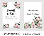 wedding vector floral invite... | Shutterstock .eps vector #1131739631