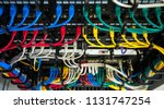 server wires data storage | Shutterstock . vector #1131747254