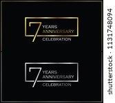 7th years anniversary... | Shutterstock .eps vector #1131748094
