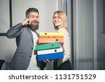 office manager help woman... | Shutterstock . vector #1131751529