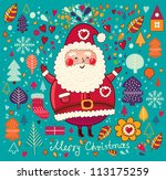 christmas illustration with... | Shutterstock .eps vector #113175259