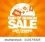 End of season sale design template with shopping bags. - stock vector