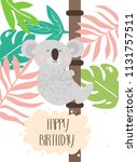 poster with koala . editable...   Shutterstock .eps vector #1131757511