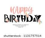 happy birthday invitation card   Shutterstock .eps vector #1131757514