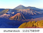 sunrise on mt. bromo and the... | Shutterstock . vector #1131758549
