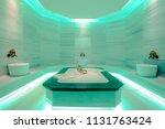 minimal turkish bath | Shutterstock . vector #1131763424