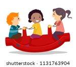 illustration of stickman kids...   Shutterstock .eps vector #1131763904