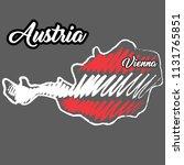 hand drawn map of austria ... | Shutterstock .eps vector #1131765851