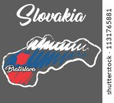 hand drawn map of slovakia ... | Shutterstock .eps vector #1131765881