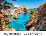 great view at famous european... | Shutterstock . vector #1131772844