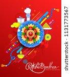 illustration of greeting card... | Shutterstock .eps vector #1131773567