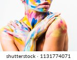 cropped image of girl with... | Shutterstock . vector #1131774071
