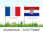 flags of france and croatia... | Shutterstock . vector #1131776669