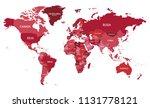 political world map vector... | Shutterstock .eps vector #1131778121
