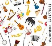 musical instrumental seamless... | Shutterstock .eps vector #1131778151
