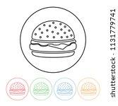 cheeseburger icon in a modern... | Shutterstock .eps vector #1131779741