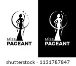 miss lady pageant logo sign... | Shutterstock .eps vector #1131787847