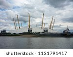 view of the o2 arena across the ... | Shutterstock . vector #1131791417