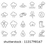 simple set of rain related... | Shutterstock .eps vector #1131798167