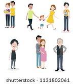 family members spending time...   Shutterstock .eps vector #1131802061