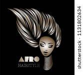 hair and beauty salon vector... | Shutterstock .eps vector #1131802634