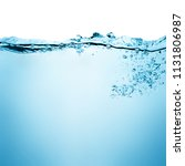 water and air bubbles over... | Shutterstock . vector #1131806987