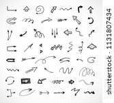 hand drawn arrows  vector set | Shutterstock .eps vector #1131807434