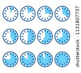 timer sign  icon set. vector...   Shutterstock .eps vector #1131807737